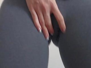 Teasing And Sucking Dildo In Tight Sport Leggings