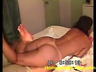 Wife Jerks The Meat With Her Feet