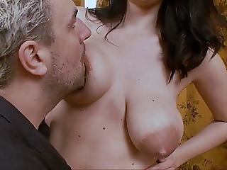 Big Boob, Boob, Brunette, Lactating, Milk, Nipples, Sucking