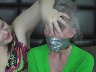 Granny Double Tape Gagged