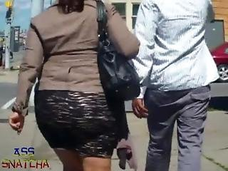 Phat Latina Ass Jiggle Booty In Skirt Candid