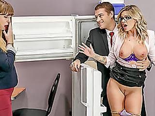 Huge Tits Jessa Rhodes Gets Fucked And Facialed By The Ceo