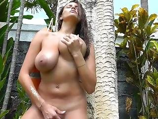Natural Busty Sensual Jane Fucks Her Friend On Lawn