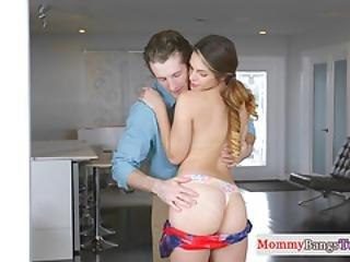 Busty Stepmom Licks Teen Babes Pussy In Ffm