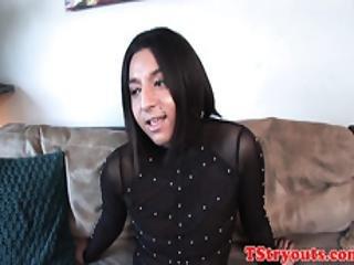 Bigass Trans Amateur Stroking Her Dong