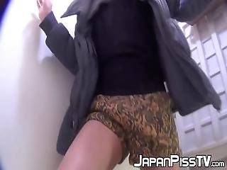 Japanese Women Are Filmed One By One As They Piss In The Outdoor Toilet Like Complete Freaking Sluts