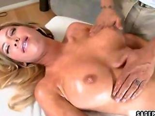 Big Tits Massaged With Oil