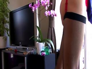 Mature In Stockings Fucking A Cock