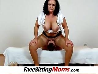 Chubby Big Tits Cougar Danielle From Sexdatemilf.com Facesitting Skinny Boy