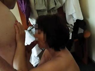 Hot Blowjob In A Hotel Room Mom And Step Son