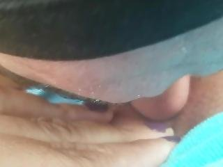 Outdoor Shaved Pussy Licking Clit Sucking Close Up Part 1