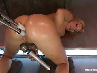 Fucking Machines - Quad Anal 4 Dicks, 1 Hole - Amy Brooke