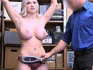 Huge Boobs Teen Thief Caught Stealing And Is In Trouble
