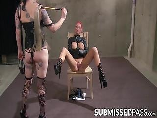 Submission Needs To Be Taught By Using Sex Toys In Means Never Intended These Dungeon Dykes Sure Know How To Do It!