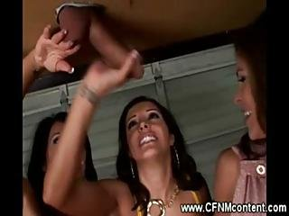 Group Of Cfnm Milfs Sharing A Cock