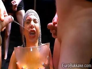 Filthy European Hottie Loves Golden Rain