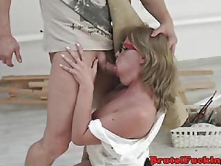 Spex Amateur Roughly Pounded In Her Asshole