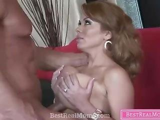 Stepmom And Sun Fucked On The Sofa