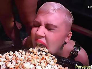 Ho eats piss soaked food