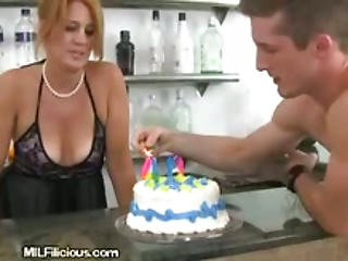 Milf Gets Shaft For Her Birthday