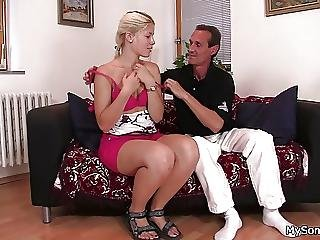 Father In Law Licks And Fucks Young Pussy