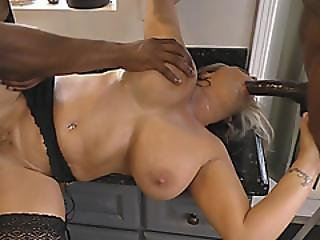 Busty Cougar Treats The Black Boys For Quick Gangbang