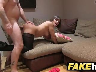Fake Agent Uk Randy Australian Brunette Takes A Big Facial After Hard Fuck