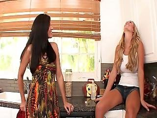 Milf Seduces Young Blonde Step Daughter And Makes Her Cum - India Summer