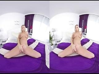 Her First Pregnant Virtual Reality Masturbation
