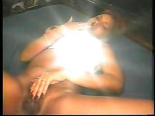 Fat Guy Fucks And Creams A Sexy Bitch In Bed After She Fondles Her Cunt