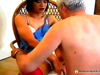 A Guy Gets Cock From Panty Knots