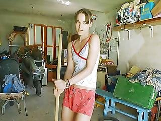Skinny Teen Garage Girl