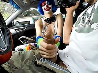 Teen Clown Mikayla Mico Fucked In Public For A Free Ride