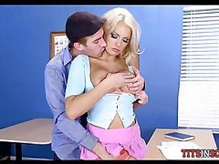 blondin, bröst, mogen, milf, skola, student, lärare, Tonåring, uniform