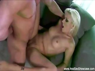 Teen With Pigtails Rough Anal Fuck