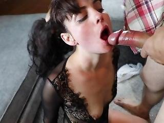 Rough Teen Face Fucking And Slapping As She Gags My Cock Begging For My Cum