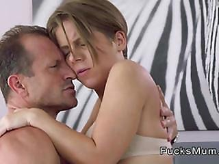 Short Haired Milf Rides Partner In Bedroom