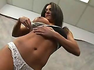 Hot Milf Kristine Madison Masturbates Before Getting Double Teamed