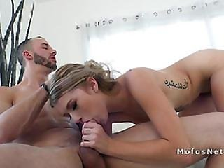 Blonde Teen Spinner Likes Huge Dick