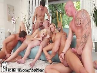 Biempire Bisexual Ass Fucking Orgy Train