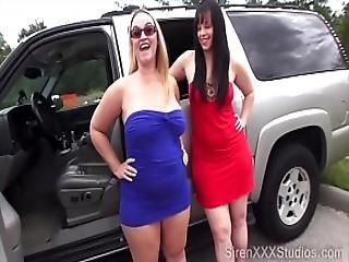 Two Sluts Fuck Strangers In Field