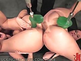 Fucking And Sucking Mechanical Cock