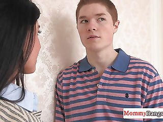 Stunning Cougar Stepmom Joins Teen Couple