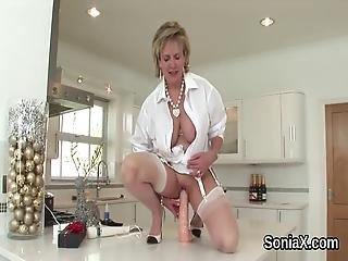 Adulterous Uk Mature Lady Sonia Flaunts Her Massive Breasts