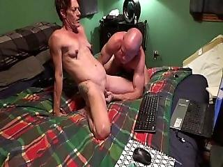Milf Fucked By Large Dildo And Sucks Cock On Chaturbate