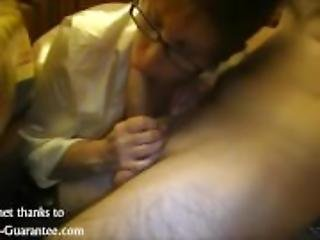 Mature Babe with glasses Blowjob