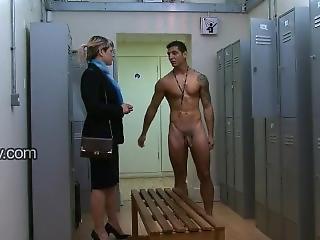 cfnm, fetiš, hotel, Mladý Holky