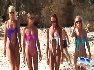 Segg, Part, Bikini, Mell, Segg, Kiállítás, Modell, Meztelen, Nudista, Szexi, Tanga