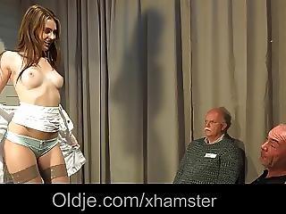 5 Old Men Gang Bang Nasty Young Blonde Nurse