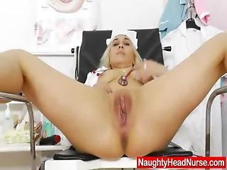 Fingering, Masturbation, Mature, Milf, Mom, Naughty, Nurse, Speculum, Uniform, Wife